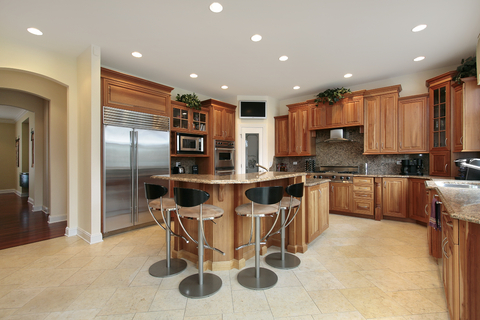 Recessed lighting spacing finding just the right measurements for recessed lit kitchen aloadofball Image collections